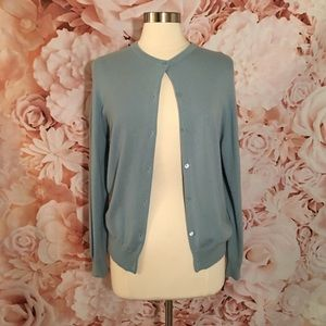 Neiman Marcus Cashmere Sweater, Blue, Vintage 🌸
